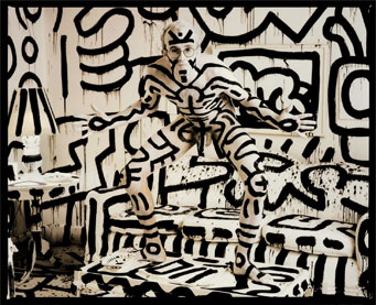 Keith Haring Self Portrait photography  A portrait of