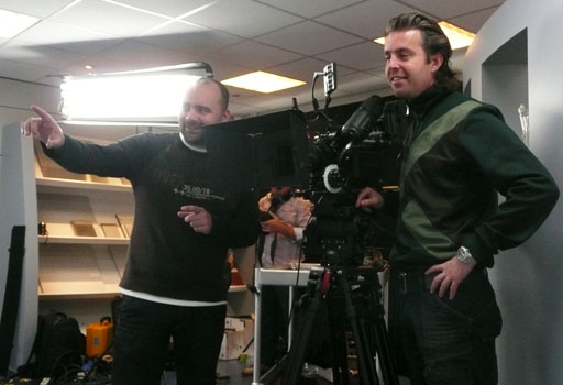 Peet (left) with DOP Rogier den Boer